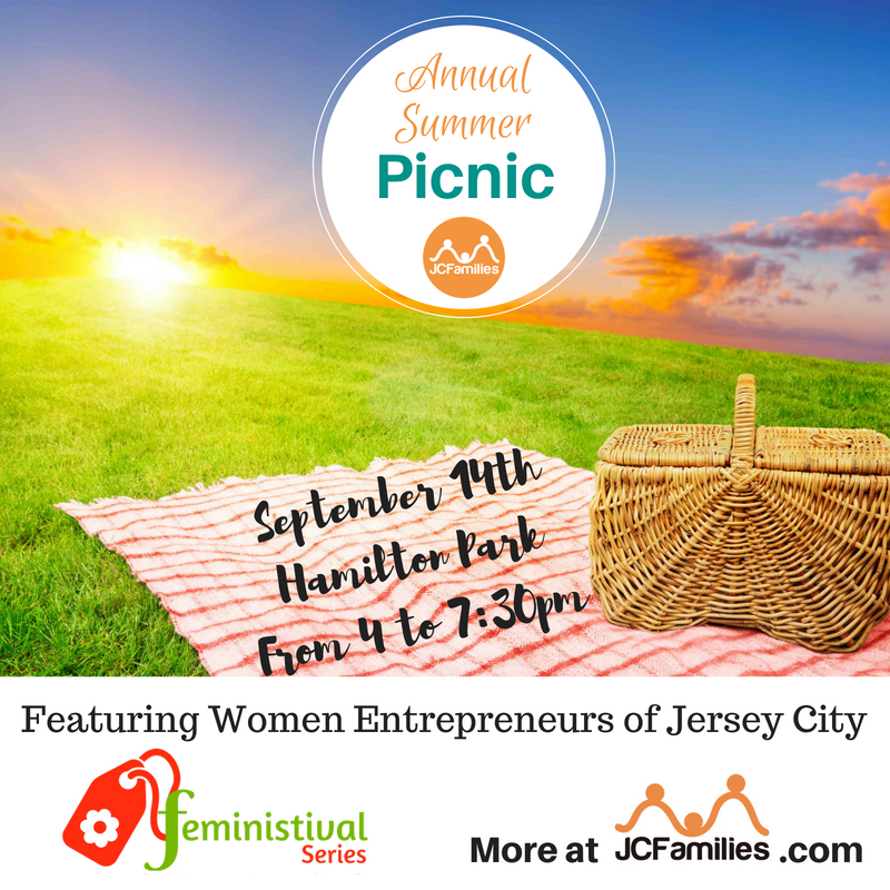 Back to School Picnic in Jersey City September 14 @ 3 - 730 pm